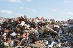 Escombros del edificio fotografía de archivo