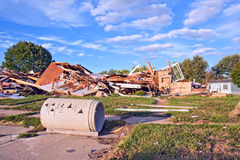 Escombros en un sitio de demolición Fotografía de archivo