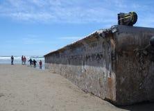 Escombros japoneses del tsunami Imagen de archivo libre de regalías