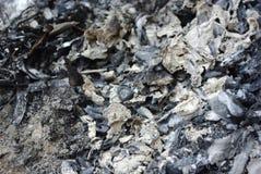 Escombros quemados Fotografía de archivo