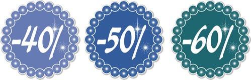 Escompte 40-60% de l'hiver Illustration Libre de Droits