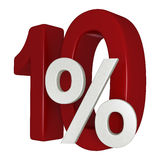 escompte de 10% Photo stock
