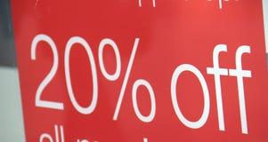 Escompte de 20% dans la vente Photos stock