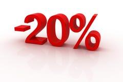 escompte de 20 pour cent Photographie stock
