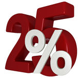 escompte de 25% Images stock