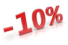 escompte de 10% Image stock