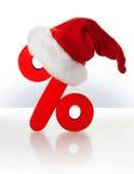 Escompte de Noël Photographie stock libre de droits
