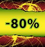 Escompte fol 80 pour cent hors fonction illustration libre de droits