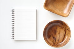 Esconda el cuaderno abierto fotografía de archivo libre de regalías