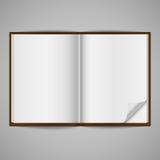 Esconda el libro abierto con el doblez de la esquina Foto de archivo