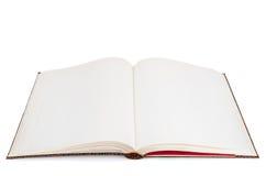 Esconda el libro abierto en el fondo blanco Fotos de archivo libres de regalías