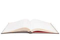 Esconda el libro abierto en el fondo blanco Imágenes de archivo libres de regalías