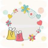 Esconda el marco adornado para el día de tarjeta del día de San Valentín Fotos de archivo libres de regalías