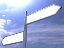 Esconda el poste de muestra direccional de camino Imagen de archivo