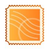 Esconda el sello de correo aislado Imágenes de archivo libres de regalías