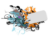 Esconda la escritura de la etiqueta diseñada ilustración del vector