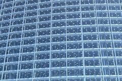 Esconda la fachada de cristal del edificio de oficinas curvado Foto de archivo libre de regalías