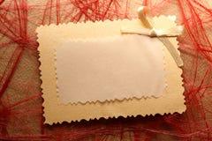 Esconda la tarjeta de felicitación Fotos de archivo libres de regalías