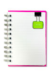 Esconda un cuaderno del Libro Blanco de la cara fotos de archivo libres de regalías