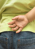 Esconder da criança é mão Imagem de Stock