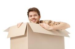 Esconder dentro da caixa Imagem de Stock Royalty Free