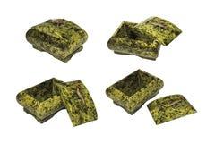 Esconderijo da pedra serpentina mineral Fotos de Stock