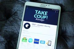 EScooter del GOLPE que comparte el app Imagen de archivo