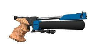 Escopeta de aire comprimido atlética Imagen de archivo libre de regalías