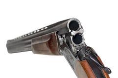 Escopeta de dos cañones cargada imagenes de archivo