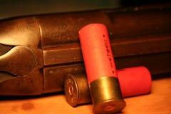 Escopeta y shelles Imagen de archivo libre de regalías