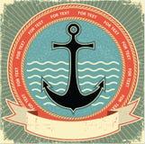 Escora náutica. Etiqueta do vintage Fotos de Stock