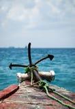 Escora no mar fotografia de stock