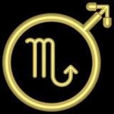 Escorpión 002 del zodiaco Foto de archivo libre de regalías