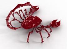 Escorpión 3d al revés Fotografía de archivo libre de regalías