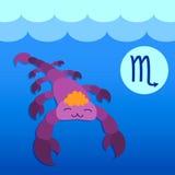 Escorpión de la muestra del zodiaco Imagen de archivo libre de regalías