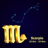 Escorpión de la muestra del zodiaco del vector ilustración del vector