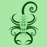 Escorpión de Swirly Imágenes de archivo libres de regalías