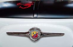 Escorpión del abarth del logotipo de Fiat 500 Imágenes de archivo libres de regalías