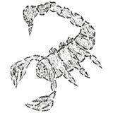Escorpión estilizado abstracto de B&W Foto de archivo libre de regalías