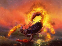 Escorpión rojo Imágenes de archivo libres de regalías