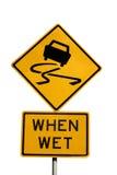Escorregadiço quando molhado Imagem de Stock Royalty Free