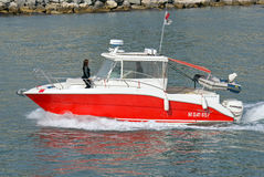 Escort boat for escorting ships. Stock Photos