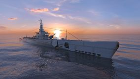 Escort ship. 3D CG rendering of the escort ship royalty free stock photography