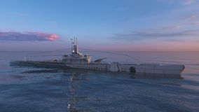Escort ship. 3D CG rendering of the escort ship royalty free stock photo