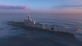 Escort ship. 3D CG rendering of the escort ship stock images