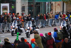 Escorte policière de marathon de 2014 NYC Images libres de droits
