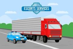 Escorte Services Banner Template d'agence de sécurité illustration libre de droits
