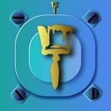 Escova artística do elemento do ouro ilustração stock