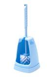 Escova azul do toalete Imagens de Stock