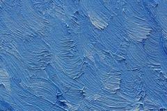 A escova colorida afaga a pintura de óleo na lona Foto de Stock Royalty Free
